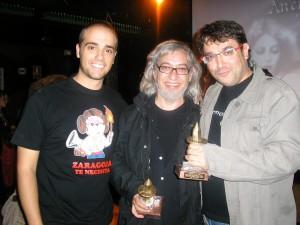 Enrique Mendoza, Luis Royo y Fernando Monzón