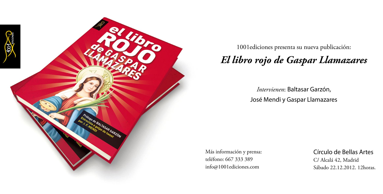Invitación El libro rojo de Gaspar Llamazares