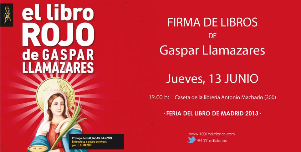 Firma de libros Gaspar Llamazares